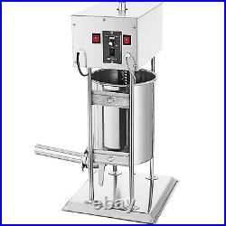 10L 25LB Electric Commerical Sausage Stuffer Stainless Dual Speed Best Price