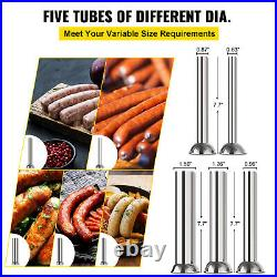 10L Electric Vertical Sausage Stuffer Meat Filler 2 Speed Stainless Steel Manual