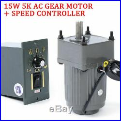 110V 15W 5K AC gear motor electric motor variable speed controller 2700RPM