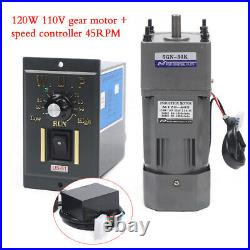 120W AC110V gear motor electric variable speed controller Governor 130 45RPM