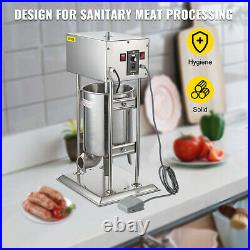 12L 28LB Electric Commerical Sausage Stuffer Stainless Dual Speed Anti-Rust