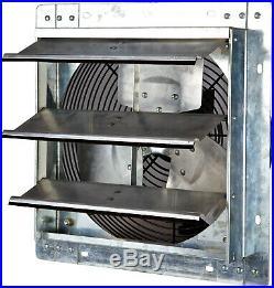 12 Shutter Exhaust Fan Variable Speed Wall Mounted Heavy Duty Galvanized Steel