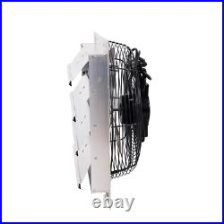 16 in. Electric Power Exhaust Fan Mount Variable Speed 1100 CFM with Auto-Shutters