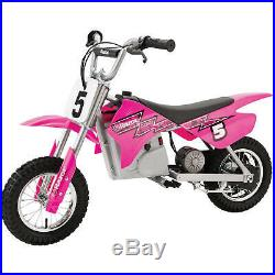 24-Volt Dirt Trails Electric Motocross Bike variable-speed, chain-driven motor