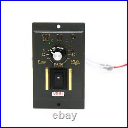 250W AC Gear Reduction Motor Electric Variable Speed Control Reversible 110V Hot