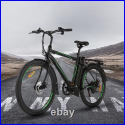 26'' 250W Electric Bike 36V Li-Battery, Variable Speeds and Full Suspension US