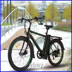 26'' Electric Bike 250With36V Li-Battery Variable Speeds Suspension Mountain New