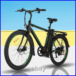 26'' Electric Bike 250With36V Li-Battery Variable Speeds Suspension Mountain US