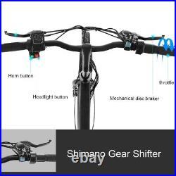 26'' Electric Bike 36V Li-Battery Suspension Mountain Bicycle 6 Speed Ebike US