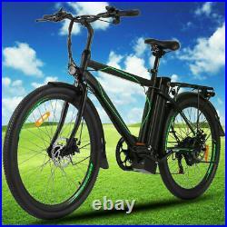 26 Electric Cruiser Bike Mountain Bicycle Removable 10AH Battery E-Bike