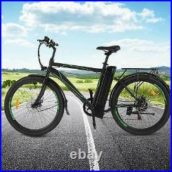 26 Electric Cruiser Bike w Removable 10AH Battery City Ebike 6Speed Gear/