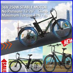 26'' Electric Montain Bike for Adults Electric Commuting Bicycle 10Ah Battery US