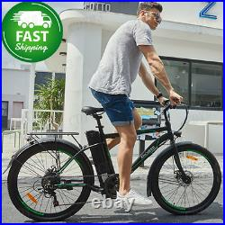 26 Inch Electric Bike for Adults Electric Commuting Bicycle 6-Speed Gears City