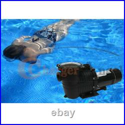 2HP 110-240v 5520GPH In/Above ground Swimming Pool pump motor Strainer 1500W US