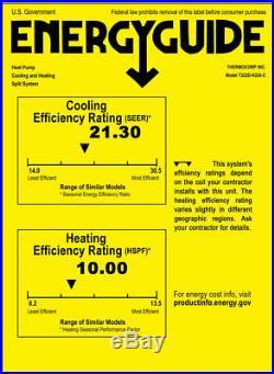 30000 BTU Ductless Mini Split Air Conditioner Heat Pump 12000 + 18000 Ceiling