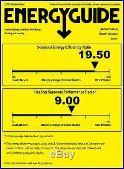 45000 BTU Energy Star QUAD Ductless Mini Split Air Conditioner 9000 x 3 + 18000