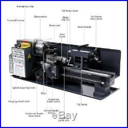 550W 7 x 14Mini Metal Lathe Machine Variable Speed 2250 RPM High Precision
