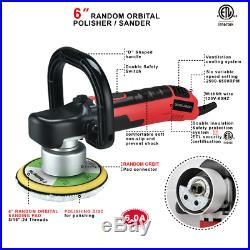 6 6A Variable Speed Random Orbital Electric Polisher Sander 6500 RPM Toolman