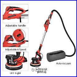 750W Drywall Sander Electric Sanding Tool Adjustable Variable Speed Led Light