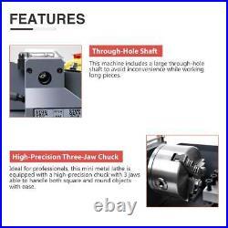 7 x 14Mini Metal Lathe Machine Variable Speed 2250 RPM High Precision 550W
