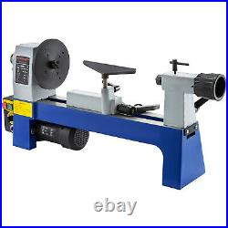 8''x12'' Variable Speed Benchtop Mini Wood Lathe 1/3 HP 500-3200RPM Tool Rests