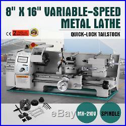 8 x 16Variable-Speed Mini Metal Lathe Processing Digital RPM Steady Rest