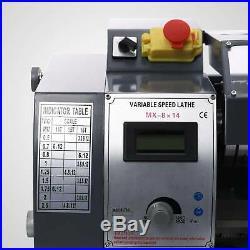 8x14 Automatic Mini Metal Lathe Variable-Speed DC Motor 600W Digital