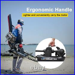 Black Haswing 12V 55LBS 54 Bow Mount Electric Trolling Motor & Wireless Remote