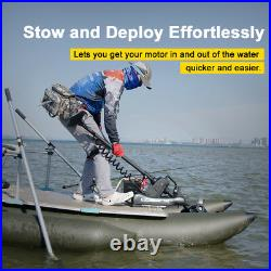 Black Haswing 12V 55LBS 54 Electric Bow Mount Trolling Motor with Foot Control