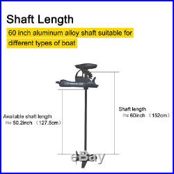 Black Haswing 24v 80Lbs 60 Variable Speed Bow Mount Electric Trolling Motor