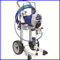 Blue Variable Speed Electric Stationary Airless Paint Sprayer with Mobile Cart