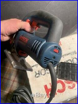 Bosch 1590EVS Variable Speed Corded Jigsaw Tool Used With Metal Case NICE