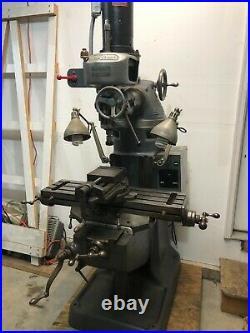 Bridgeport 110vac M Head, Variable Speed Spindle, Round Arm Style MILL Machine