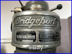 Bridgeport Mill, 32 Table, Servo Variable Speed-X Axis Powerfeed Mfg in USA