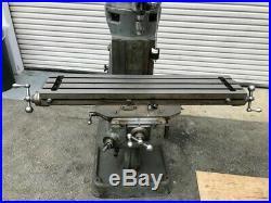 Bridgeport Mill, 42 Table, Servo Variable Speed-X Axis Powerfeed Mfg in USA
