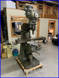 Bridgeport Milling Machine Variable Speed, 1-1/2 HP