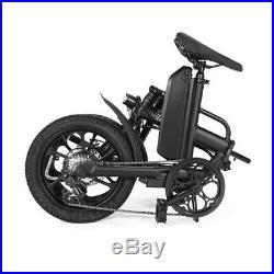 CMSBIKE 16 Electric Bike Variable Speed System Folding Bicycle 36V 250W E-Bike