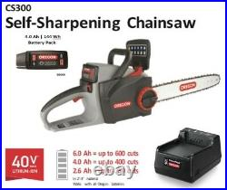 Chainsaw 16 Oregon 40V w 4.0 Ah Battery & C650 Charger Variable Speed 572625