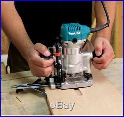 Corded Electric Compact Router Kit Plunge Base 1 1/4 HP Variable Speed 6 1/2 Amp