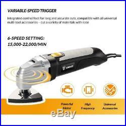 DEKO 110V Electric Oscillating Tool Multifunction Variable Speed Multi Tool Kit