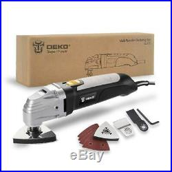 DEKO 110V Oscillating Tool Electric Multifunction Variable Speed Multi Tool Kit