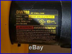 DEWALT DW788 20 in. Scroll Saw 400-1,750 SPM Variable-Speed FOR PARTS/REPAIR