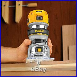 DeWalt DWP611 1.25 HP Max Torque Variable Speed Compact Router w Dual LEDs