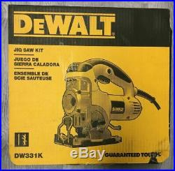 Dewalt DW331K Variable Speed Top-Handle Jig Saw Brand New IN HARD CASE