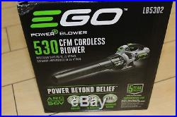 EGO Electric Blower Cordless 56-Volt LB5302 Li-ion Variable Speed WithCharger NEW