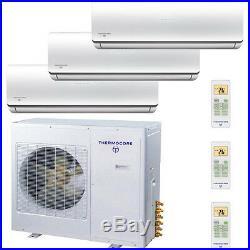 ENERGY STAR 30000 BTU Tri Zone Ductless Air Conditioner 9000 + 9000 + 12000 BTU