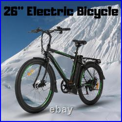 Electric Bike 26'' 250W 36V Li-Battery with Variable Speeds Full Suspension USA