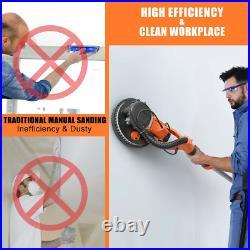 Electric Drywall Sander 750W Adjustable Variable Speed With Vacuum & Light Tools