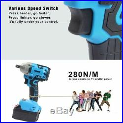 Electric Impact Wrench 2 Colors 21v Brush Less Variable Speed Cordless Drill