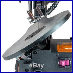 Electric Scroll Saw Corded with LED Work Light Wood Cutting Tool Variable Speed
